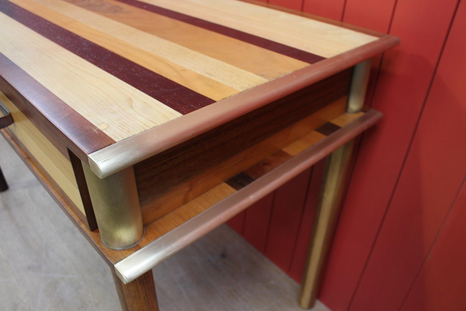 Brass bound consul table - Image 2 of 2