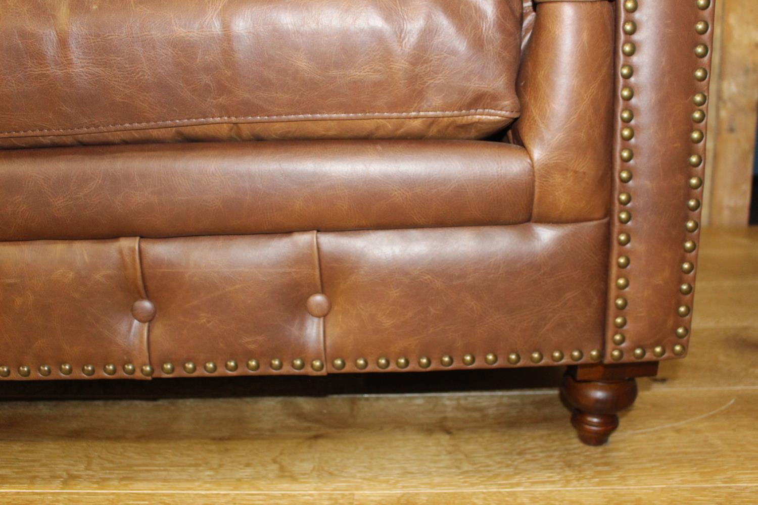 Four seated Chesterfield sofa. - Image 3 of 3