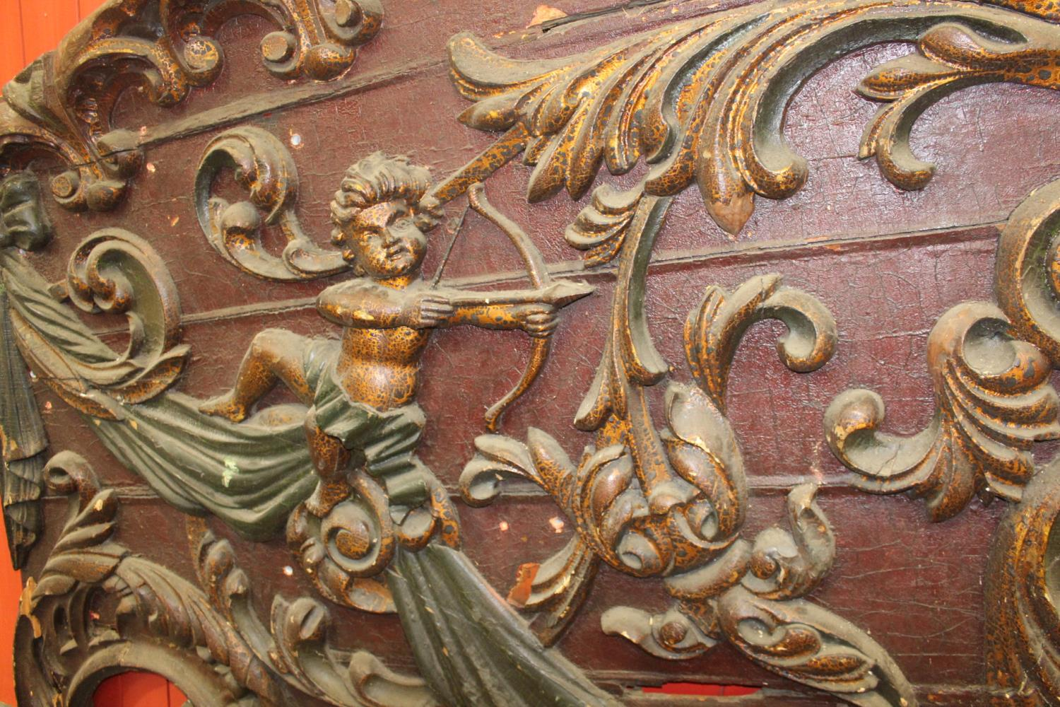 19th C. Two part fairground wagon panel - Image 2 of 3