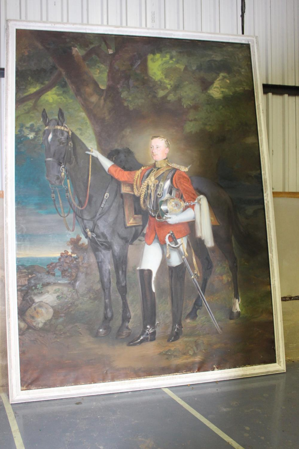 Oil on Canvas - Military Gentleman - Image 4 of 4