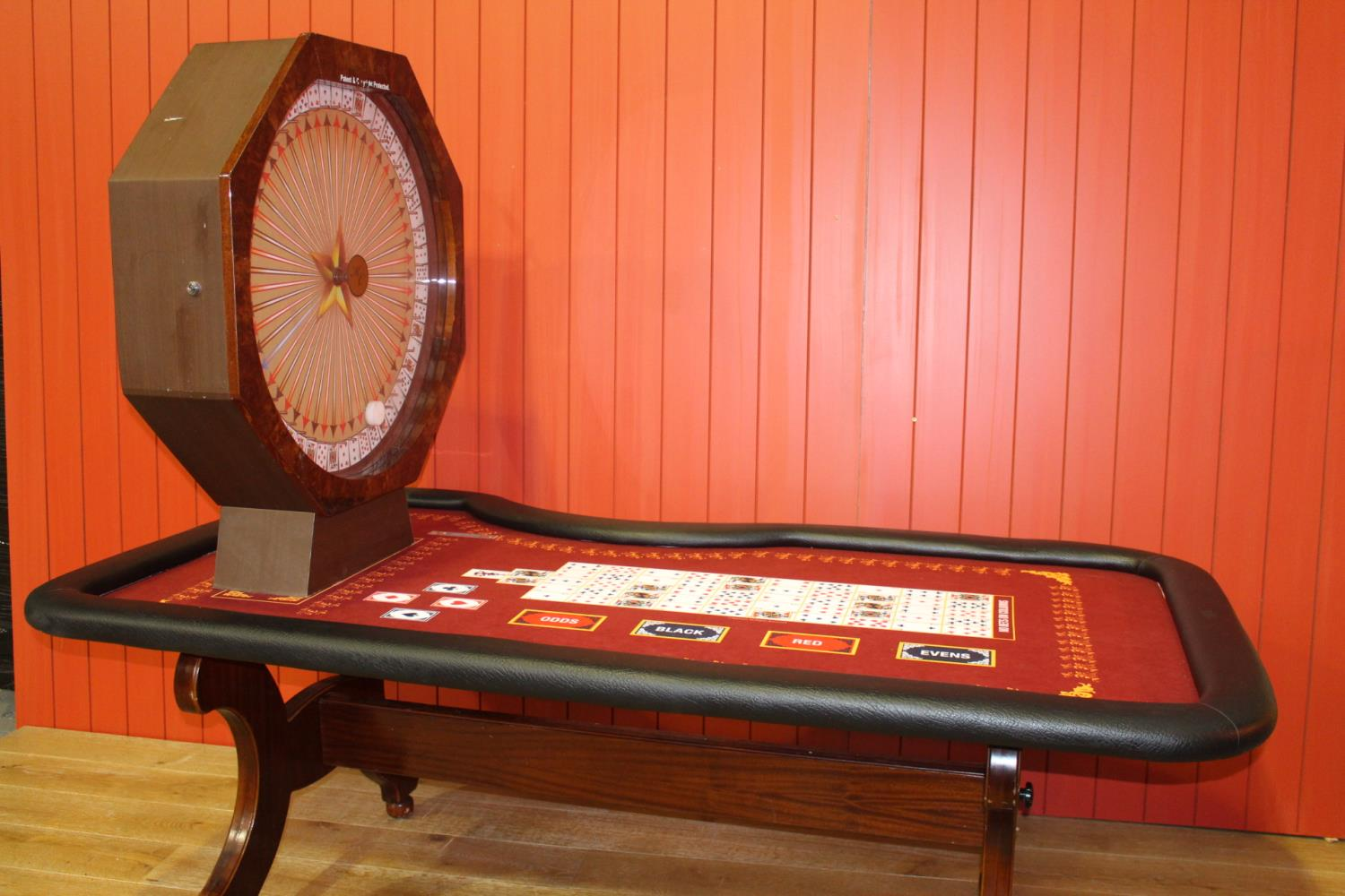 Roulette card table - Image 3 of 4