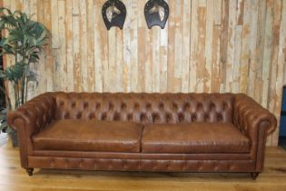 Four seated Chesterfield sofa.