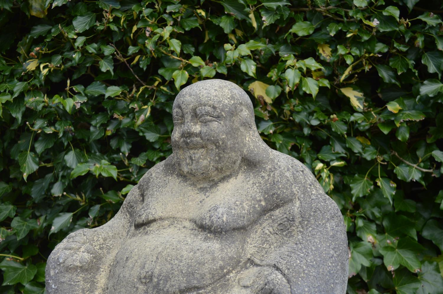 Sandstone model of a Buddha. - Image 2 of 2