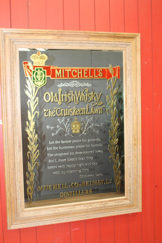 Mitchell's Old Irish Whisky advertising mirror. - Image 2 of 4