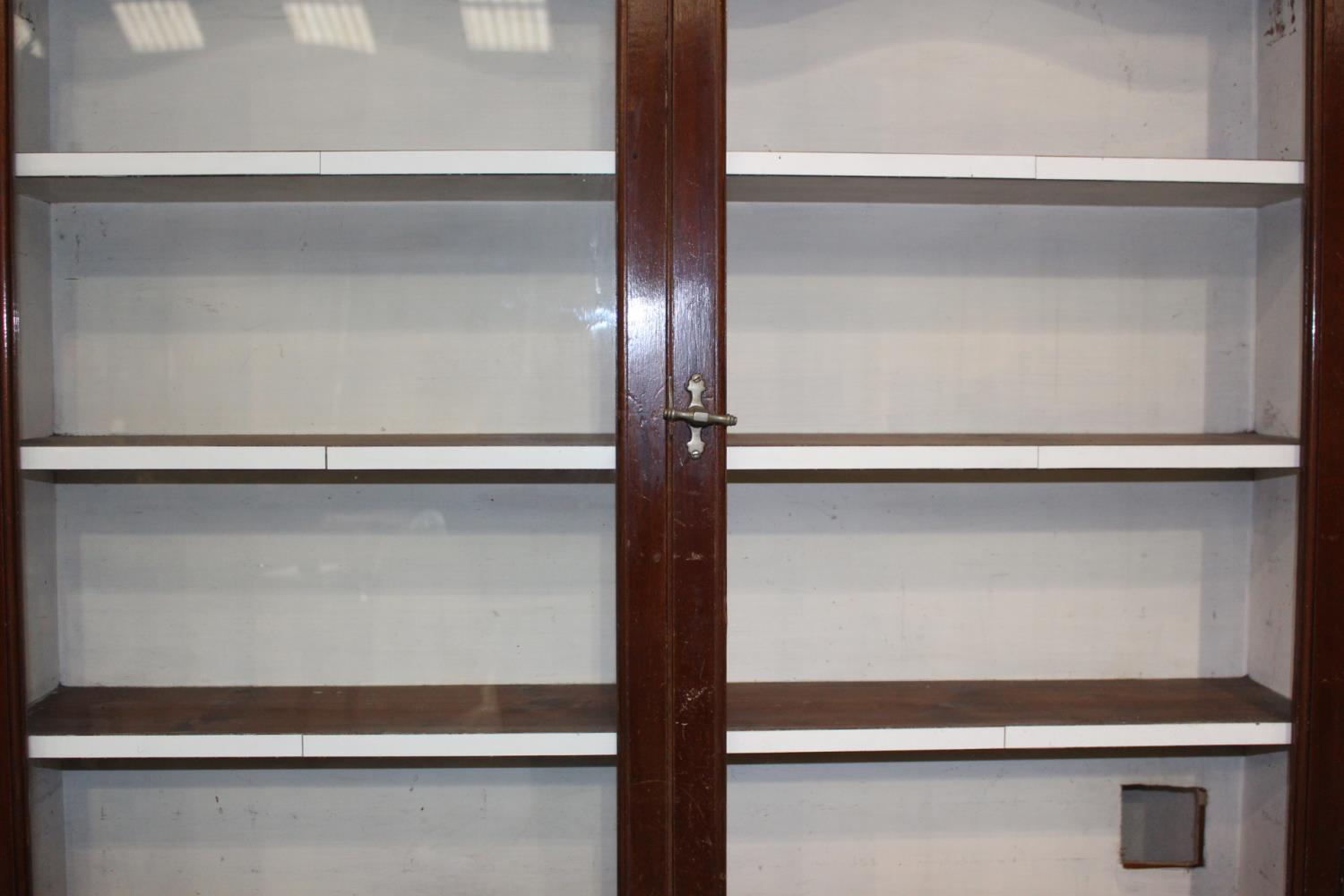 19th C. Mahogany two piece shop display cabinet - Image 2 of 3