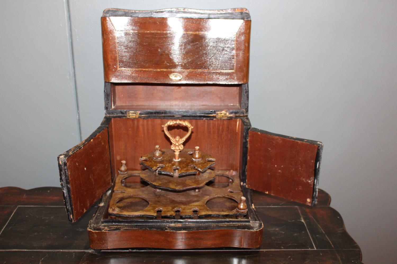 Inlaid mahogany smoker's cabinet - Image 2 of 2