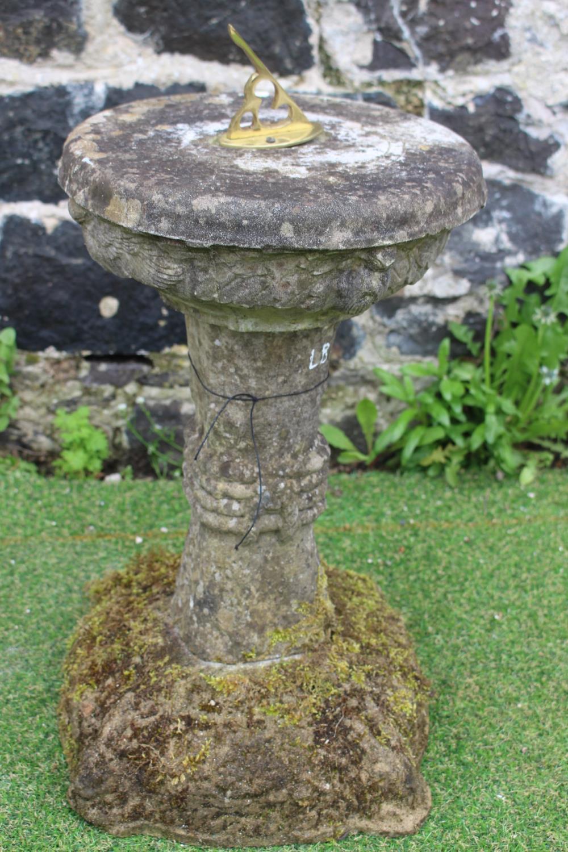 Round stone sundial