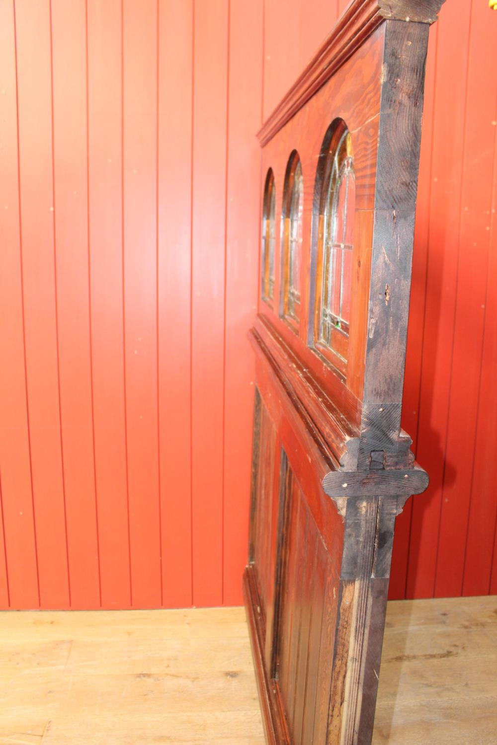 Wooden stained glass divider. - Image 3 of 3