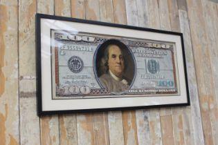 Framed $100 print