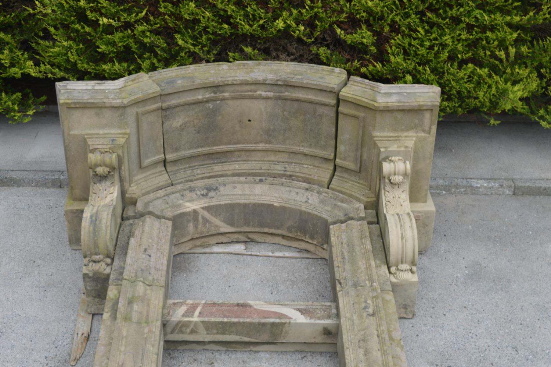 Rare 19th C. sandstone door frame. - Image 2 of 3