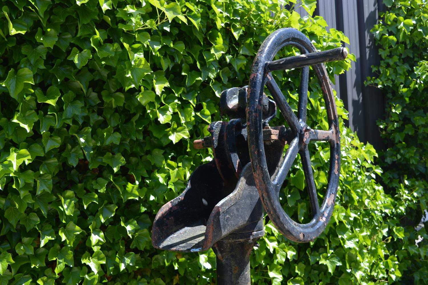 Late 19th C. cast iron garden pump. - Image 2 of 2