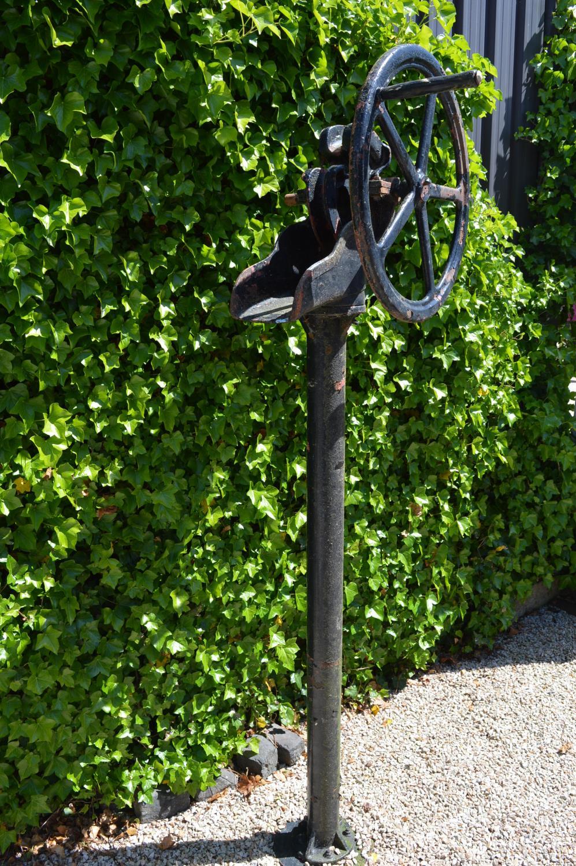 Late 19th C. cast iron garden pump.