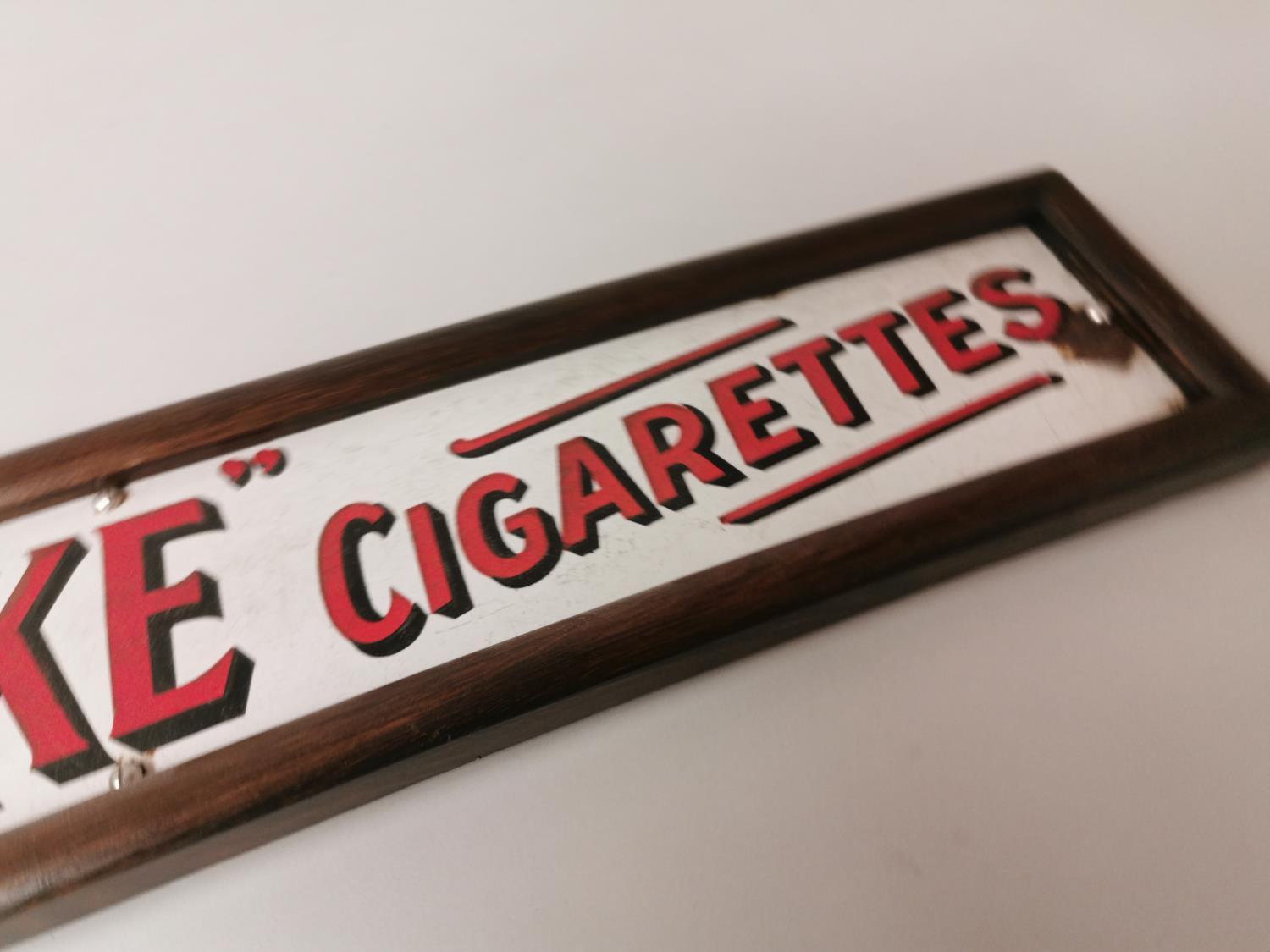 Smoke Will's Cigarettes enamel advertising sign. - Image 4 of 4