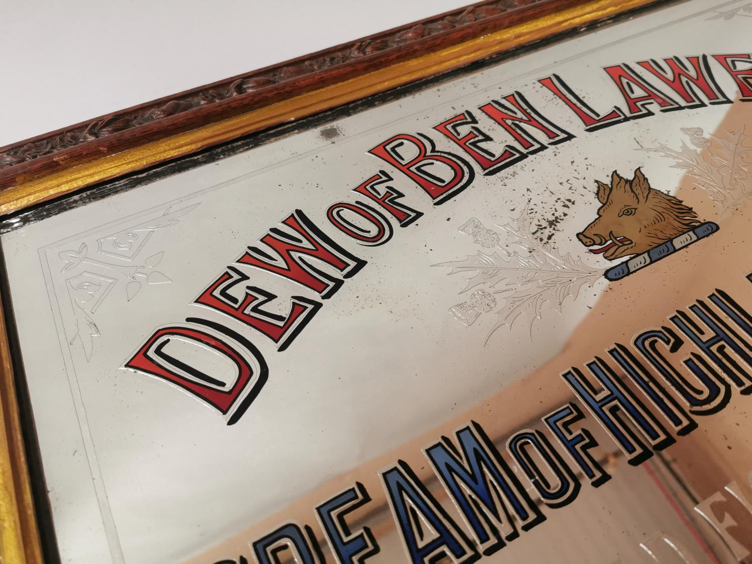 Dew Of Ben Lawers Whisky advertising mirror. - Image 2 of 5