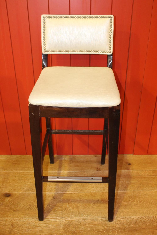 High back bar stool
