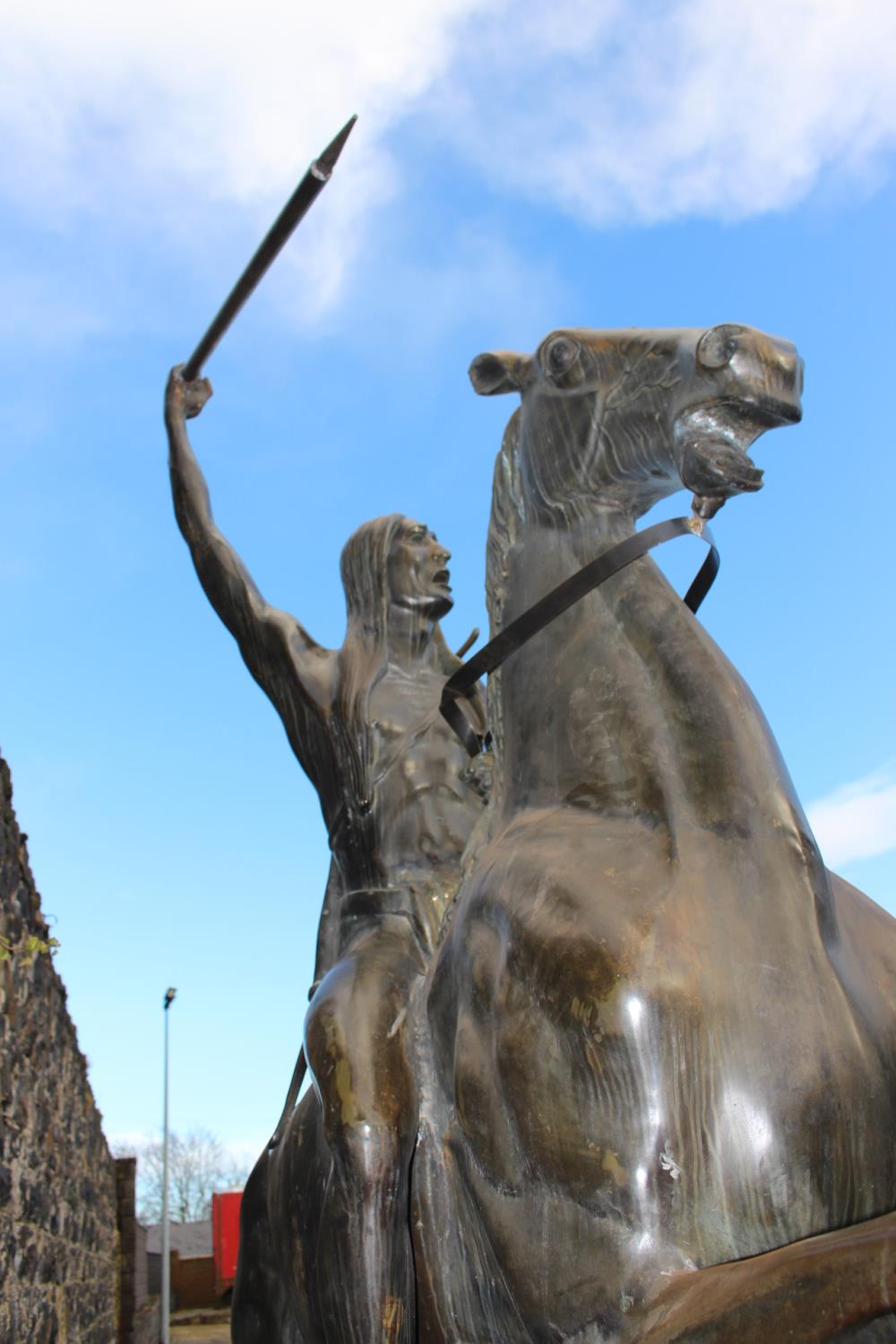 Bronze Model of Horse and Indian - Image 3 of 11