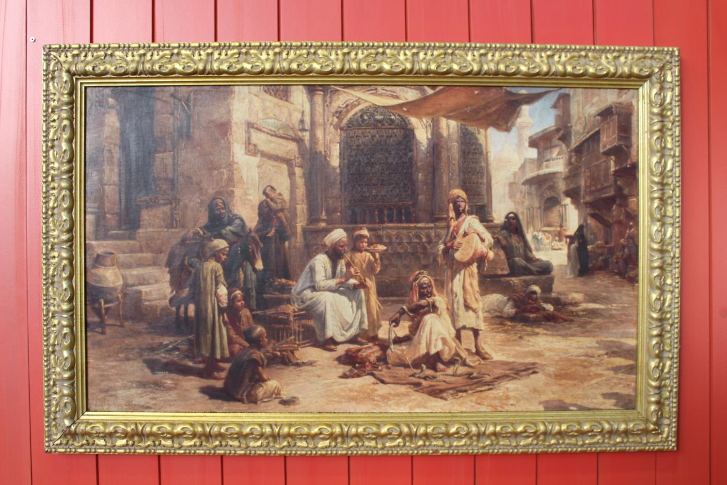 Snake Charmers oil on canvas