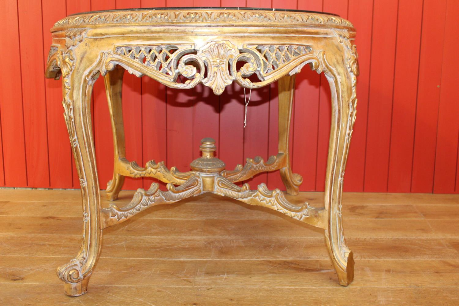 Giltwood centre table