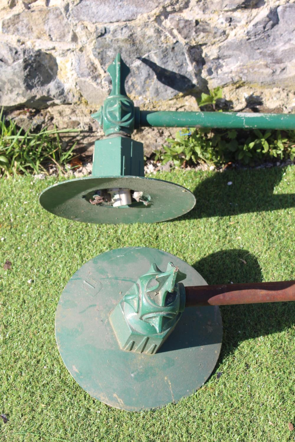 Pair of cast iron wall lights. - Image 2 of 2