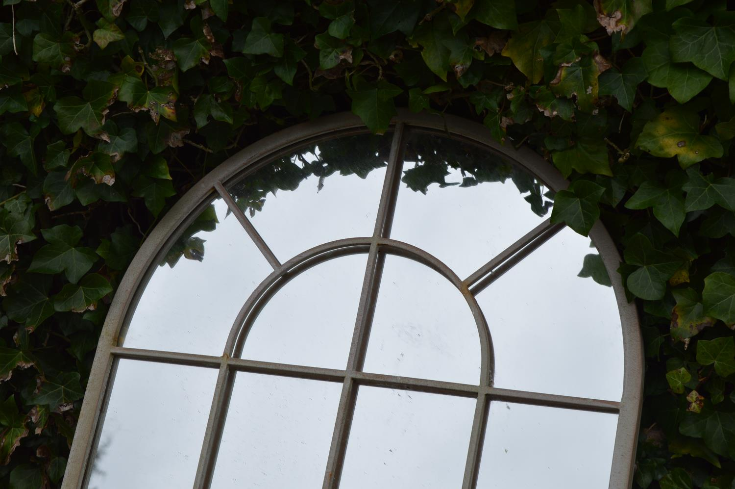 Pair of metal wrought iron window frame mirrors - Image 2 of 2