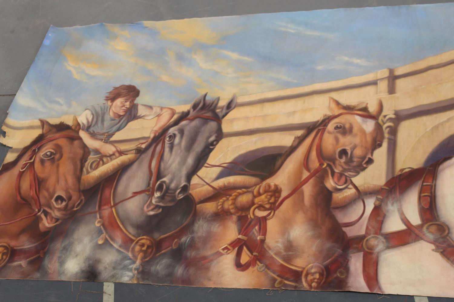 Roman Chariot and horses print on canvas - Image 4 of 5