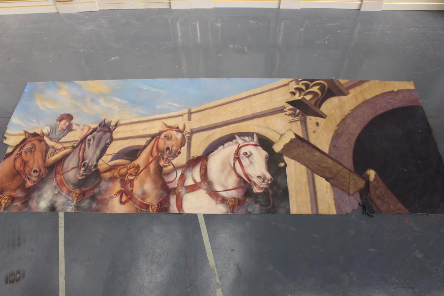Roman Chariot and horses print on canvas - Image 2 of 5