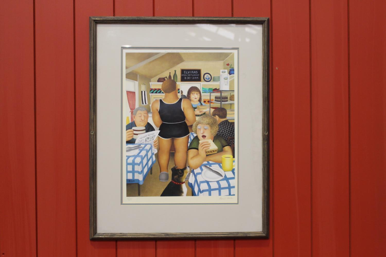 Framed Café Elviras print