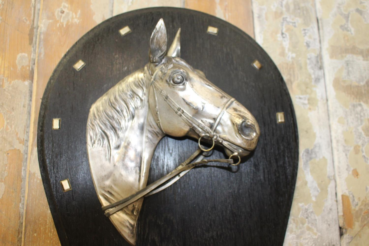 Pair of silver plated horse's head - Image 2 of 2