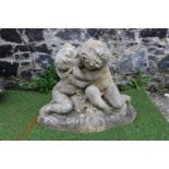 Stone statue of Boy and Girl