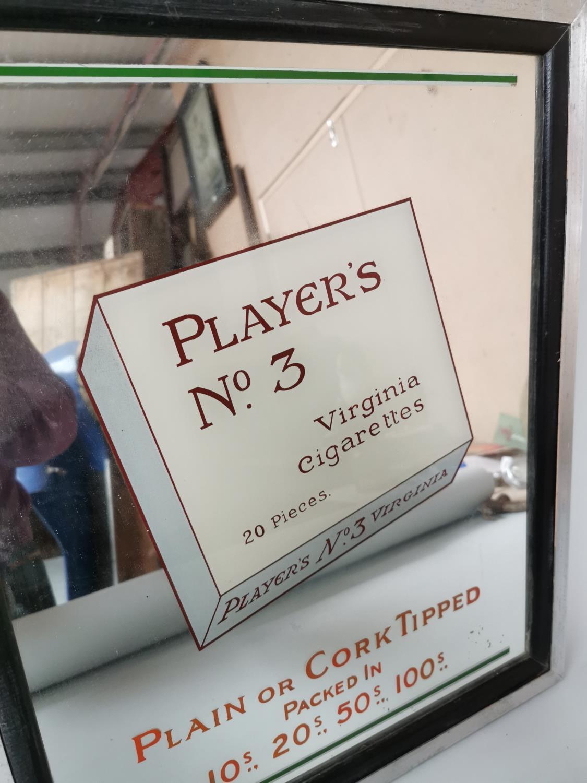 Player's No 3 Virginia Cigarettes advertising mirror. - Image 3 of 3