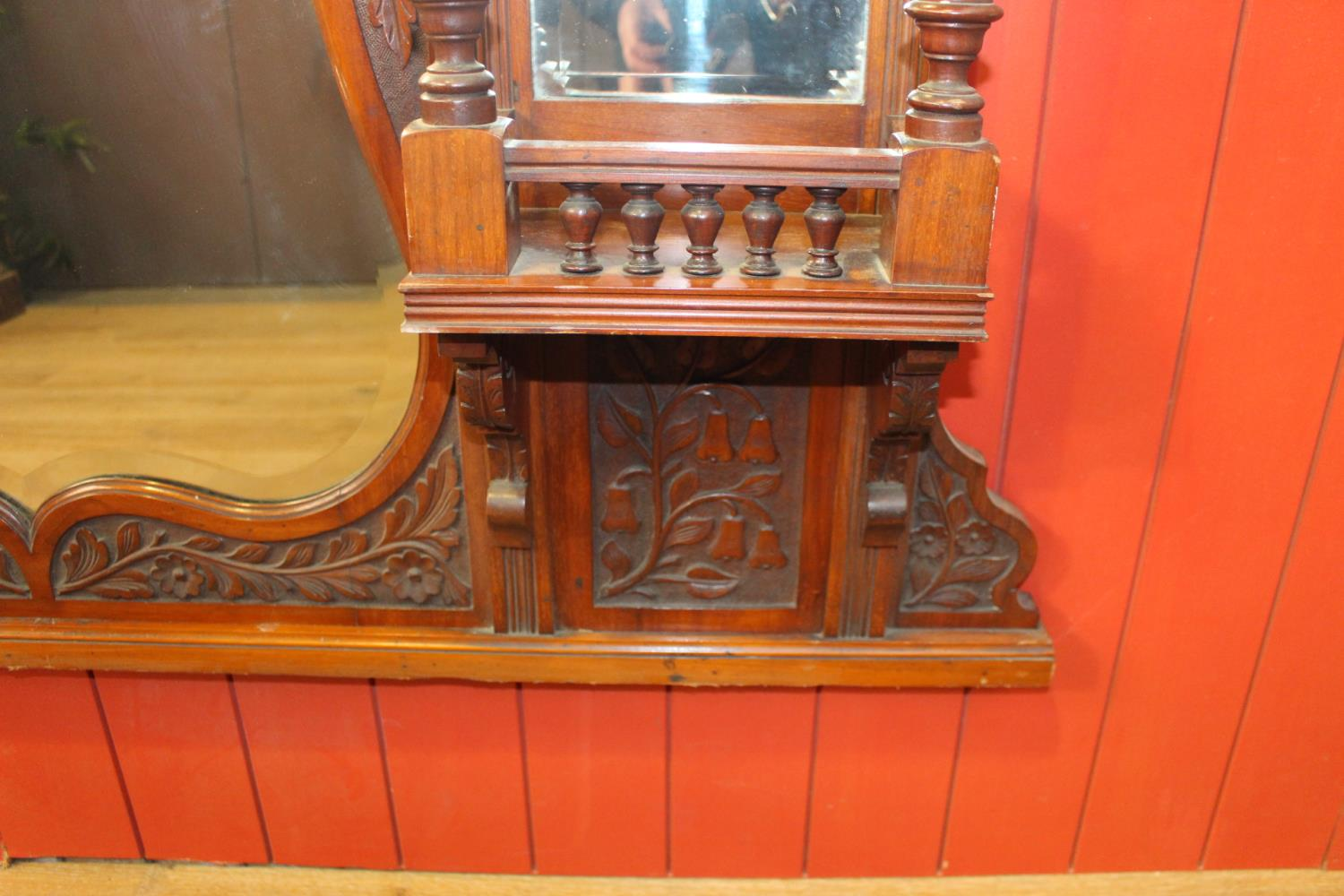 Carved overmantle - Image 2 of 2