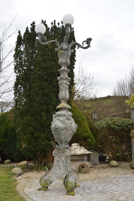 Decorative cast bronze torcehere.
