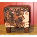 Single low bar stool.