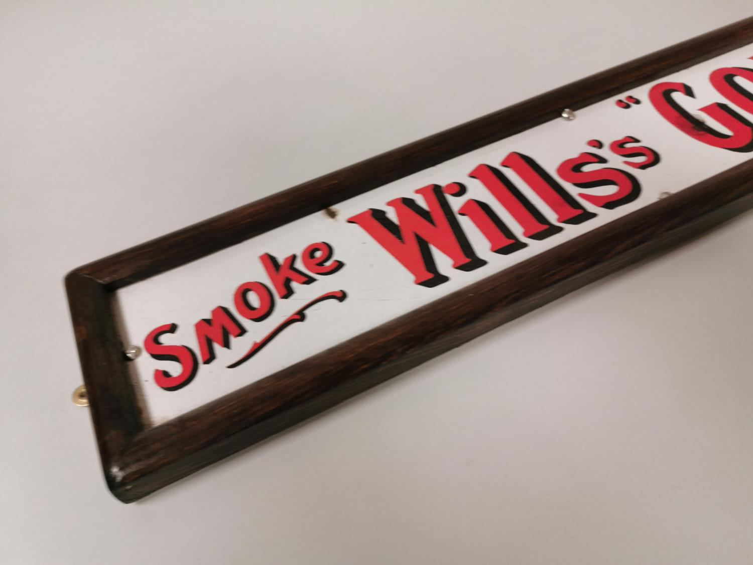 Smoke Will's Cigarettes enamel advertising sign. - Image 2 of 4