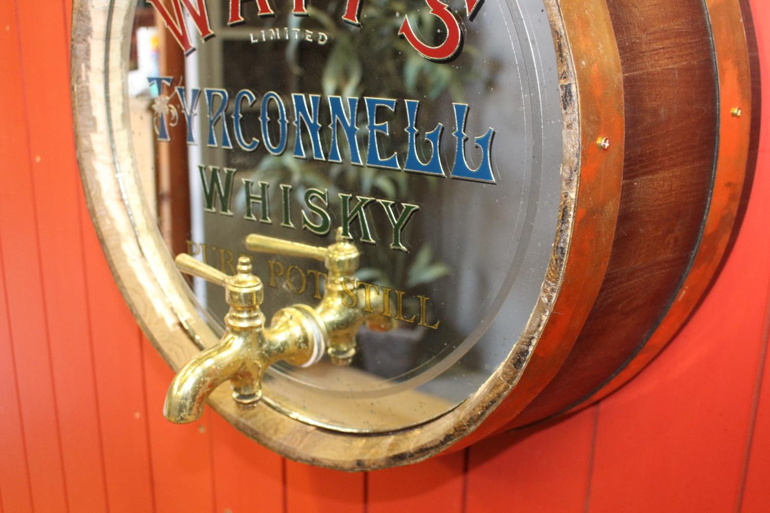 Watts Tyrconnell Whiskey barrel end mirror - Image 2 of 3