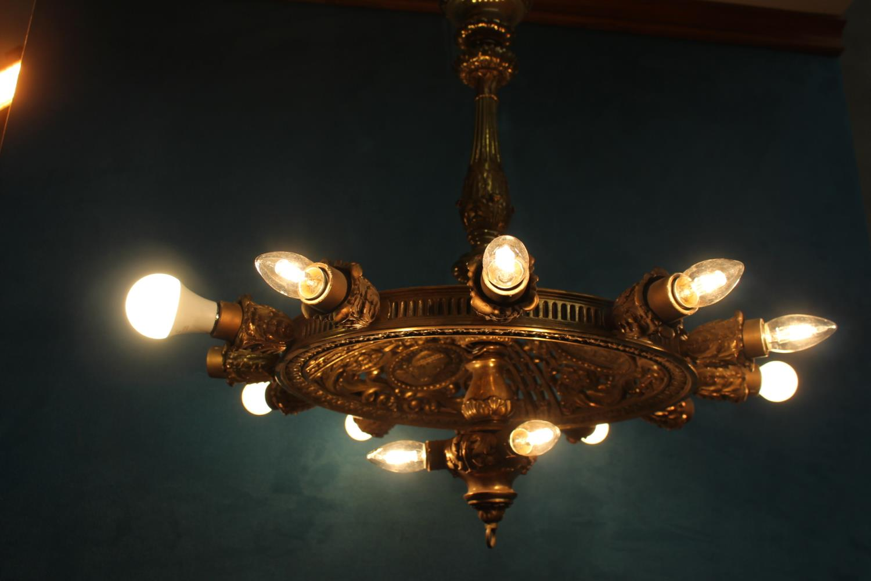 Unusual fourteen branch chandelier - Image 3 of 3