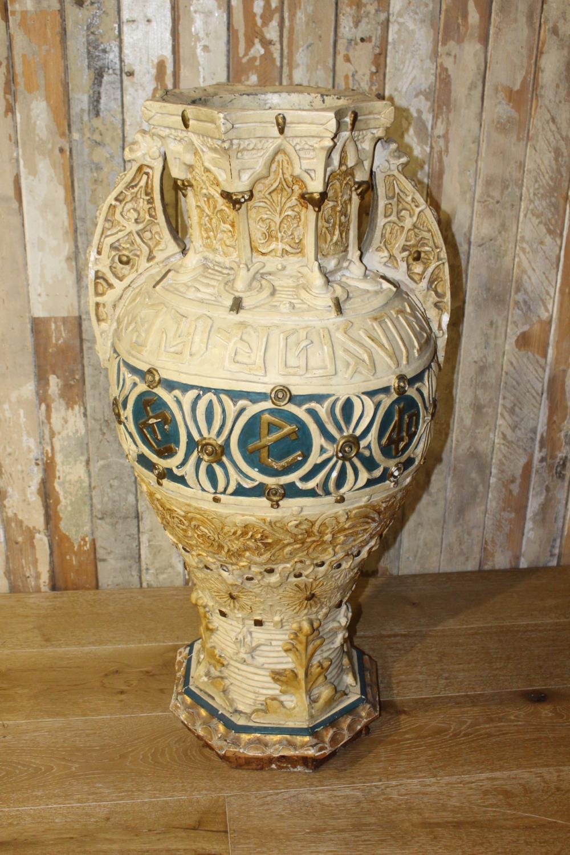 Egyptian style resin urn