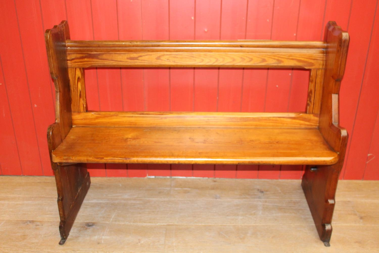 19th C. pitch pine pew