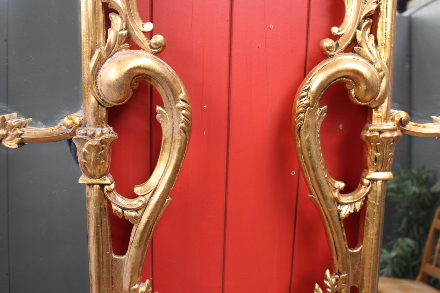 Decorative giltwood wall mirror - Image 4 of 4