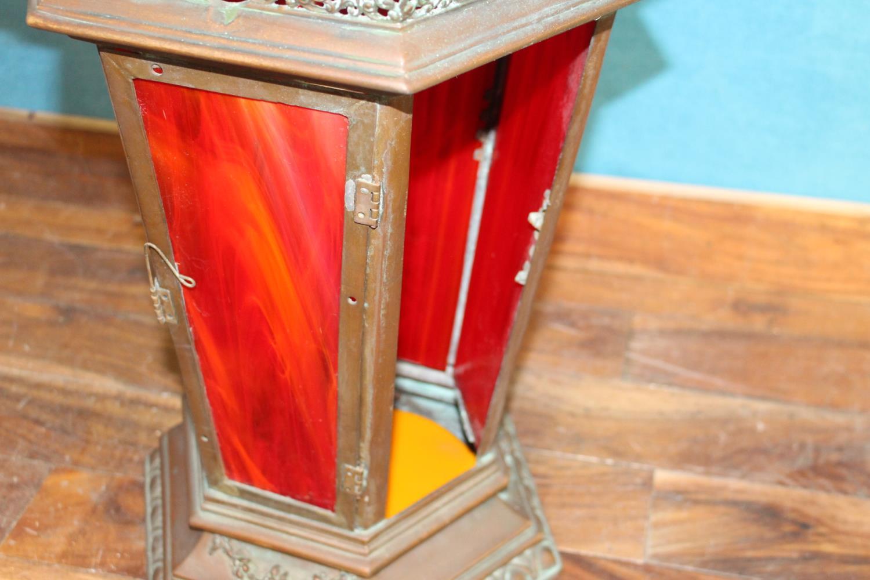 Bronze hanging lantern - Image 2 of 2