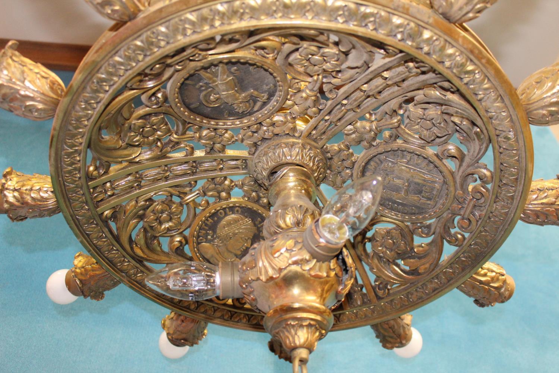 Unusual fourteen branch chandelier - Image 2 of 3
