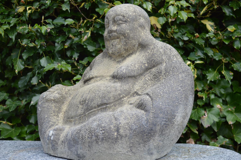 Sandstone model of a Buddha.
