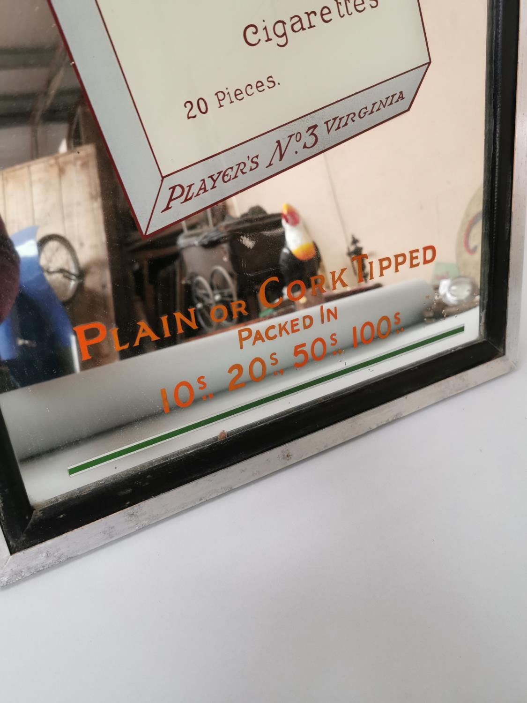 Player's No 3 Virginia Cigarettes advertising mirror. - Image 2 of 3