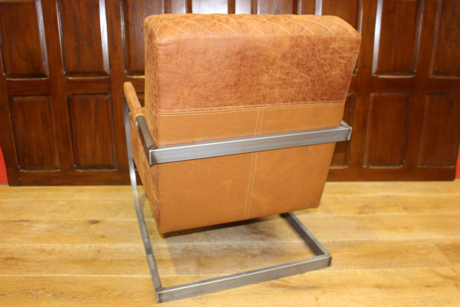 Pair of upholstered armchairs - Image 2 of 2