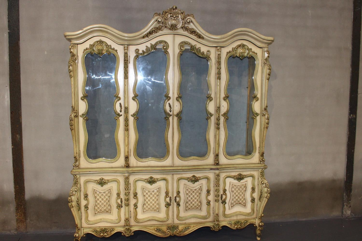 Giltwood French display cabinet - Image 2 of 2