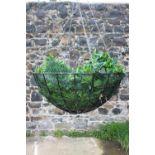 Wrought iron hanging basket