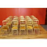 Set of twenty banqueting stacking chairs.
