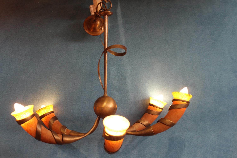 Five branch chandelier