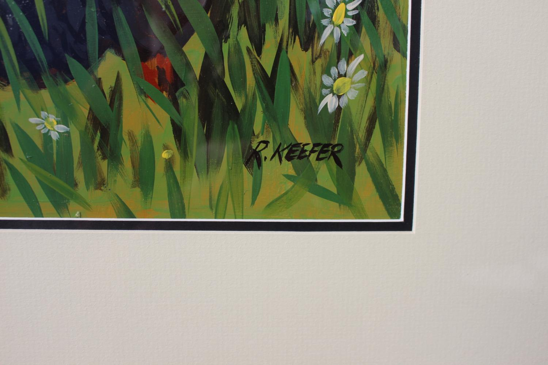 R Keefer - Black Hen - Oil on Canvas - Image 2 of 2