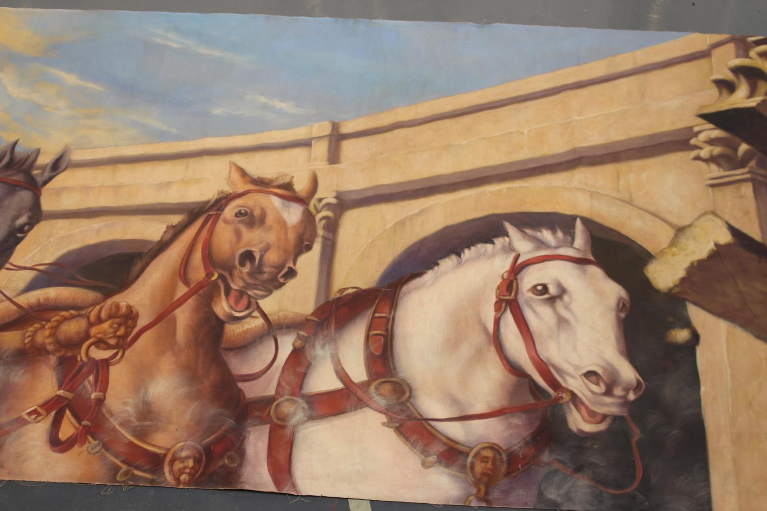 Roman Chariot and horses print on canvas - Image 3 of 5